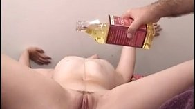 Perverted chick is into rough enema before any anal penetration