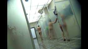 Amateur swimmers showing their toned (and chubby) bodies in the showers